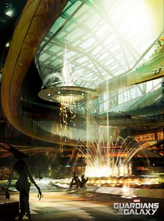 Guardians of the Galaxy - Richard Anderson. Early concept for mall area