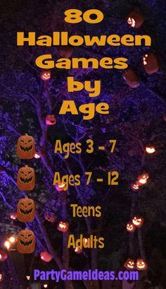 Halloween Party Kinder, Outdoor Halloween Parties, Halloween Party Activities, Halloween Games For Kids, Adult Halloween Party, Kids Party Games, Family Halloween, Haloween Games, Halloween Carnival Games