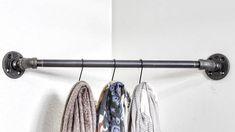 Industrial pipe corner clothing rack corner