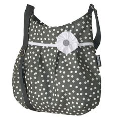 kabelka Iris Gray Dot Iris, Diaper Bag, Design, Fashion, Moda, Fashion Styles, Diaper Bags, Mothers Bag