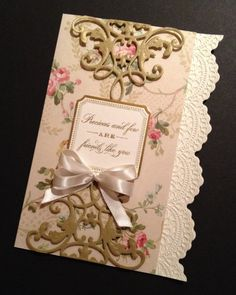 Elegant and Floral Shabby-Sweet Friendship Card with Anna Griffin Papers