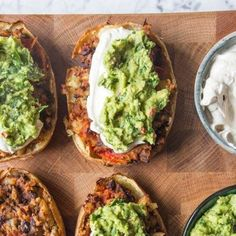 without the cream Loaded Mexican-Style Potato Skins Crispy Sweet Potato, Sweet Potato Skins, Loaded Sweet Potato, Mashed Sweet Potatoes, Healthy Superbowl Snacks, Deliciously Ella, Vegan Meal Prep, Latest Recipe, Mexican Style