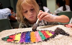 Local kids use their imagination to create art on carpet squares - BakersfieldCalifornian.com