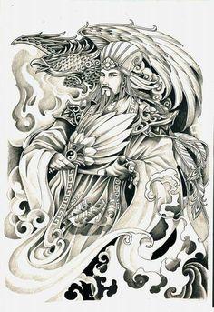 Japanese Dragon Tattoos, Japanese Tattoo Art, Tattoo Sketches, Tattoo Drawings, Tattoo Studio, Tatoo Manga, Shoulder Armor Tattoo, Ronin Samurai, Hanya Tattoo