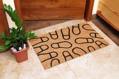 Natural Coir Door Mats with Attractive Printed Designs to Welcome your Guests. The tough hardwearing Coir Brush Surfaces keeps the dirt away from your home. Mats are available in rectangular, half, round, oval and oblong shapes in all regular sizes. Ideal for covered entrance ways and patios. Coir surface with Anti slip backing. Made from natural coconut fibers called coir. Natural coconut fibers enhance beauty and offer superior cleaning performance. Coir Doormat, Entrance Ways, Door Mats, Fiber, Coconut, Surface, House Design, Shapes, Cleaning