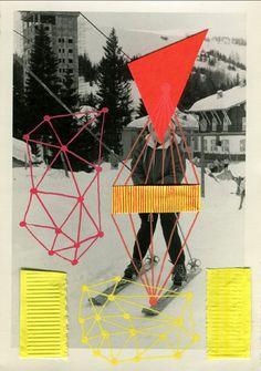 Vintage photos collages by Italian artist Naomi Vona Lucienne Day, Art Du Collage, Digital Collage, Doodle Photo, Collages, Paper Toy, Photo Vintage, Vintage Photos, Collage Techniques