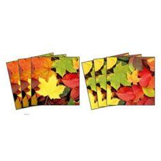 Dekorace - Nálepky na kachličky - Listy 15 x 15 cm
