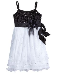 Black & White Party Dress please for the dance justice Glam Girl, Girly Girl, Tween Fashion, Party Fashion, Cute Dresses, Girls Dresses, Party Dresses, Dress Party, Occasion Dresses