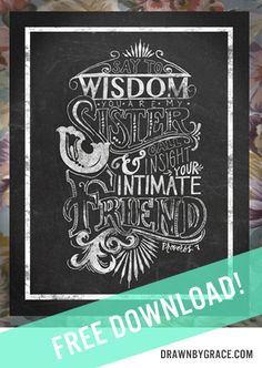 Original Hand-Lettering and Design by Amy Davis.  Download it for free when you sign up for the Drawn By Grace Newsletter! www.drawnbygrace.com