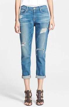 Frame Denim 'Le Garcon' Slim Cuffed Jeans (Blue Jay Way) available at #Nordstrom