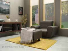 "1/6 miniature furniture set ""sofa & TV dresser"" For living room"