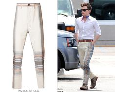 You may remember that Kurt will be wearing the matching shirt to these trousers with a different outfit in this episode. Vivienne Westwood Bombay Madras Trousers - $740.00 Worn with: Marc by Marc Jacobs bag