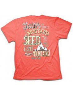 """Mustard Seed"" Kerusso Cherished Girl Short Sleeve Coral T-Shirt – Sharing Our Faith"
