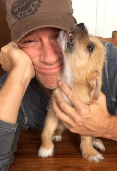 """Mike Rowe and his new puppy he rescued yesterday - from the show """"Dirty Jobs"""" This man is SEXY!!!"""