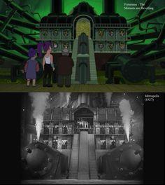 Futurama inspired by Metropolis