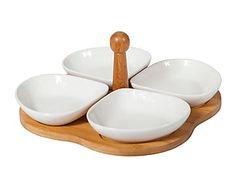 Set de entremeses en madera y cerámica