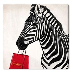 Oliver Gal Expensive Zebra Canvas Wall Art (375 BRL) ❤ liked on Polyvore featuring home, home decor, wall art, white, white wall art, white home decor, white canvas wall art, stretched canvas and canvas home decor