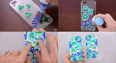 Use puffy paint to make this abstract pattern textured case. | 17 Cheap And Easy DIY Phone Cases You Can Make At Home Right Now