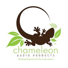 Reptile logo - Pictorial, Chameleon Audio Products