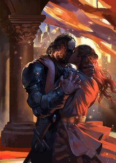The Hound & Sansa Stark - Game of Thrones - Kay Huang