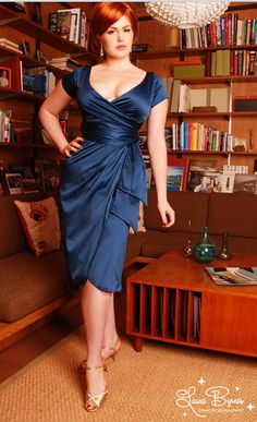 R dress in blue. I love having this dress in my closet!