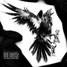 Ворон! Всё начинается и заканчивается сказками... #redcheese #raven #crow #vbiproteam #nonametattooshop #tattoo #tattooart #tattopins #tattowork #sketch #tattoosketch #drawing #dark #darkart #dotwork #darkartists #traditionaltattoo #neotrad #ntgallery #neotradsub #black #blackart #blackwork #yaroslavl #spb #moscow #key #blackkey #тату #татуировка