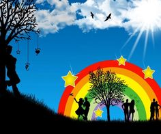 a just because rainbow!!! cell phone wallpaper from zedge