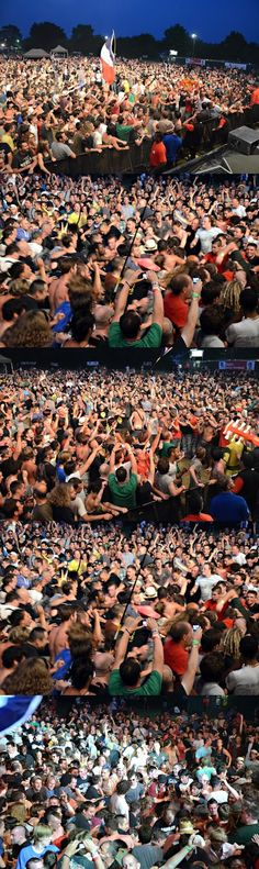 Crowd, Mass Hysteria. Art Sonic Festival 2013 © JB Quentin