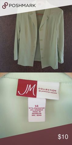 Jennifer Moore Collection in light green/sage Jennifer Moore Collection in light green/sage size 14 Jackets & Coats Blazers