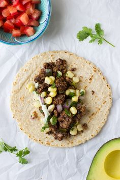 Black Bean Pecan Tacos with Lime Pepita Cream- a healthy option for taco night that will knock your socks off! #vegan