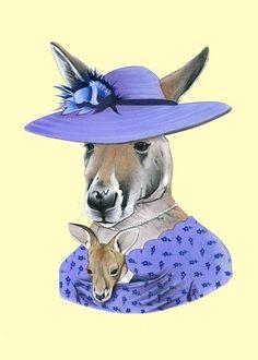 Etsy の Kangaroo print 5x7 by berkleyillustration