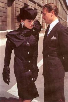 Lora Gomez 1984 YSL FW84 VOGUE PARIS HelmutNewton