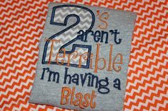 Two's aren't terrible tshirt for boy or girl 2nd by stephstowell, $22.00