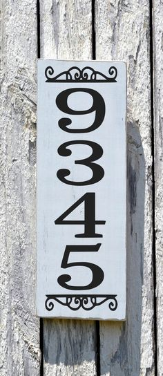 House Numbers, Address Plaque, Custom Home Number Wood Sign Vertical Personalized Outdoor Number Hanging Entry Door Yard Post Porch Signs