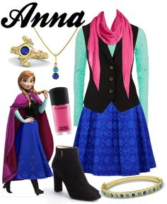 Anna by sophiedee11 featuring a purple shawl  To see more of my Disney outfits on tumblr, go here.