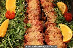 Involtini di Melanzane Eggplant Rolls Sicilian Recipe