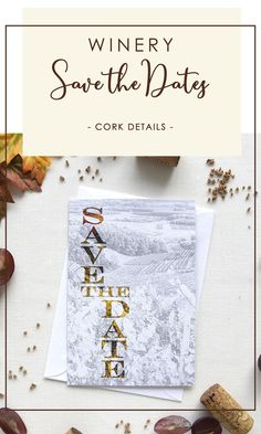 A romantic fall winery save the date inspired by rows of vines, the sprawling scenery, and the fall colors on the vine leaves after the wine harvest..The wax seal detail with tiny pieces of pure cork add the perfect amount of rustic chic style to your winery wedding. Visit us to know more. #corksavethedates #wineryweddingsavethedates Rustic Wedding Stationery, Laser Cut Wedding Invitations, Destination Wedding Invitations, Laser Cut Save The Dates, Rustic Wedding Save The Dates, Vine Leaves, Cream Wedding, Stationery Paper, Rustic Chic
