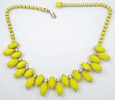 vintage yellow costume jewelry images | ... Yellow Rhinestone Necklace - Garden Party Collection Vintage Jewelry