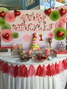 Клубничное Песочное Печенье На День Рождения, Декорации Ко Дню Рождения Девочки, Первый День Рождения, Тропическая Вечеринка, Подарочная Коробка Для Дня Рождения, Приглашения, Принцессы, Полотенца