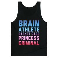 Brain, Athlete, Basket Case, Princess, Criminal (Breakfast Club) Tank