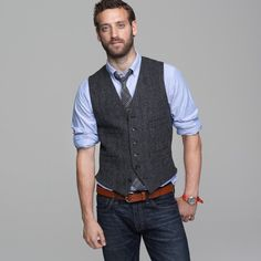 Buckley herringbone vest