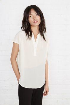 ac5c6cbd4657 Renata Silk Blouse (Ivory) – Short Sleeve – Amour Vert Capsule Wardrobe