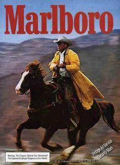 #Marlboro Man,  In Yellow Slicker Galloping Horse (1983)