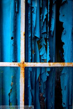 #blue #curtains #tattered