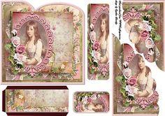 vintage girl bookmark on Craftsuprint designed by Cynthia Berridge - vintage girl bookmark - Now available for download!