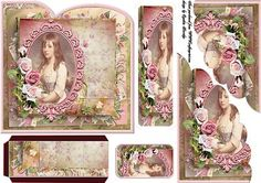 vintage girl bookmark on Craftsuprint designed by Cynthia Berridge - vintage girl bookmark - Now available for download!