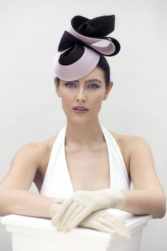 25105593ac0 Black and Pink Hat for the Races