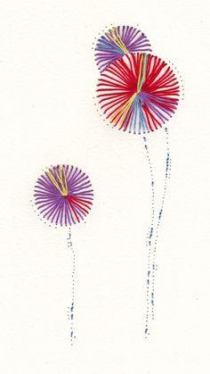 Dandelion Paper Embroidery