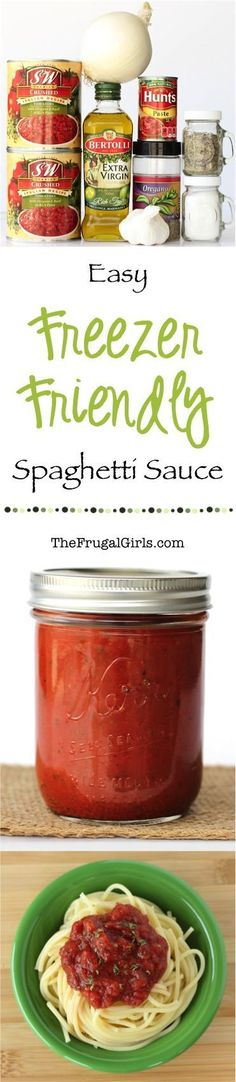 Crock Pot Spaghetti Sauce Recipe! ~ from TheFrugalGirls.com ~ just toss it in the Crock Pot and walk away! SO easy and delicious! Use it as a Pasta Sauce, Breadstick Dip or even Pizza Sauce!  Leftovers can be stored in the freezer.  #slowcooker #recipes #thefrugalgirls