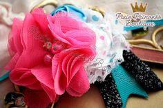 Birthday Celebration} Headband, Baby Headband, Photography Prop, Couture Headband, Shabby Chic Headband, Flower Headband, Colorful Headband